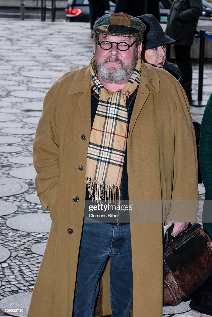 Walter Plathe attends the Wolfgang Rademann memorial service on February 11, 2016 in Berlin, Germany.