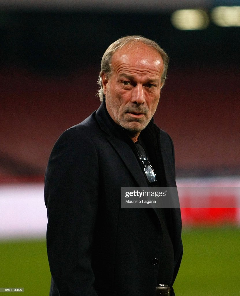 Walter Sabatini, sporting director of Roma during the Serie A match between SSC Napoli and AS Roma at Stadio San Paolo on January 6, 2013 in Naples, Italy.