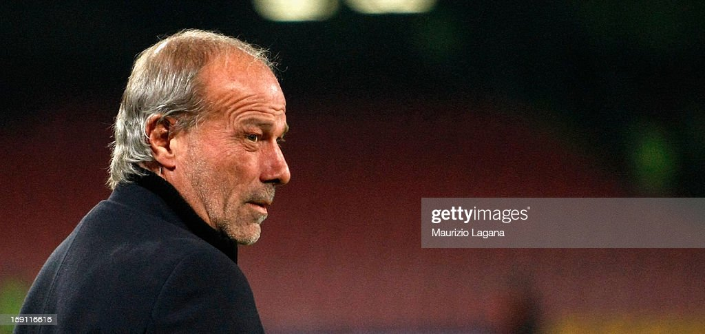 Walter Sabatini sporting director of Roma during the Serie A match between SSC Napoli and AS Roma at Stadio San Paolo on January 6, 2013 in Naples, Italy.