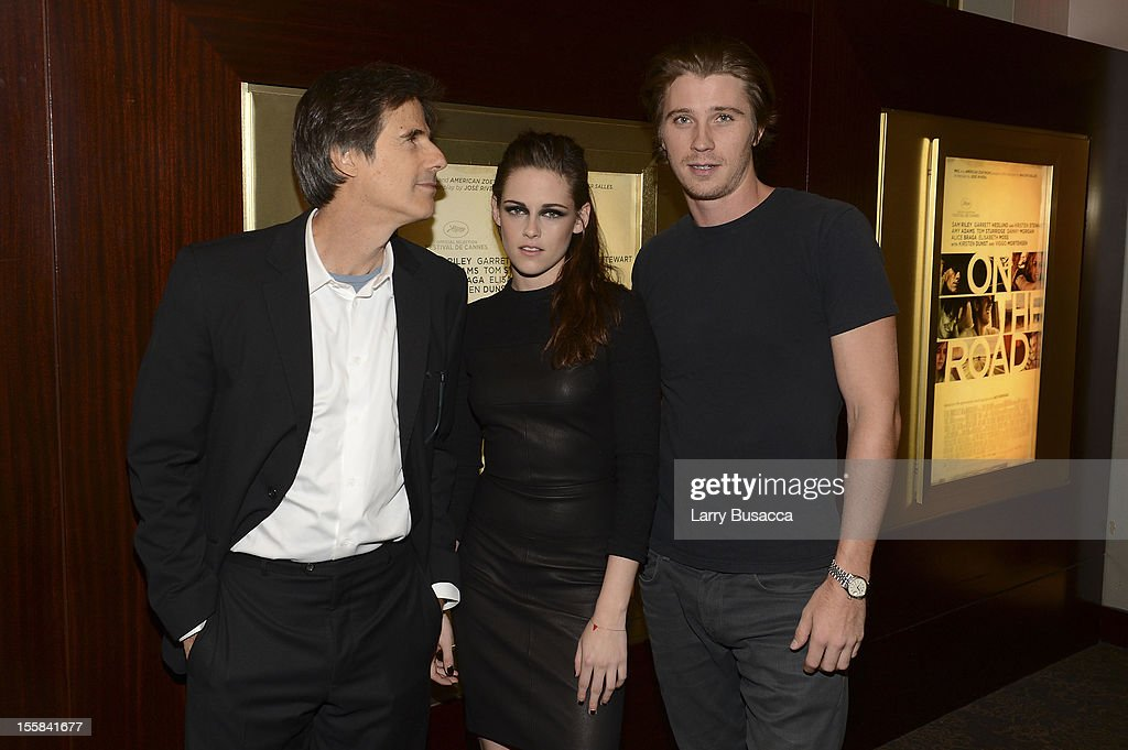Walter Sales, Kristen Stewart and Garrett Hedlund attend 'On The Road' New York Screening on November 8, 2012 in New York, United States.