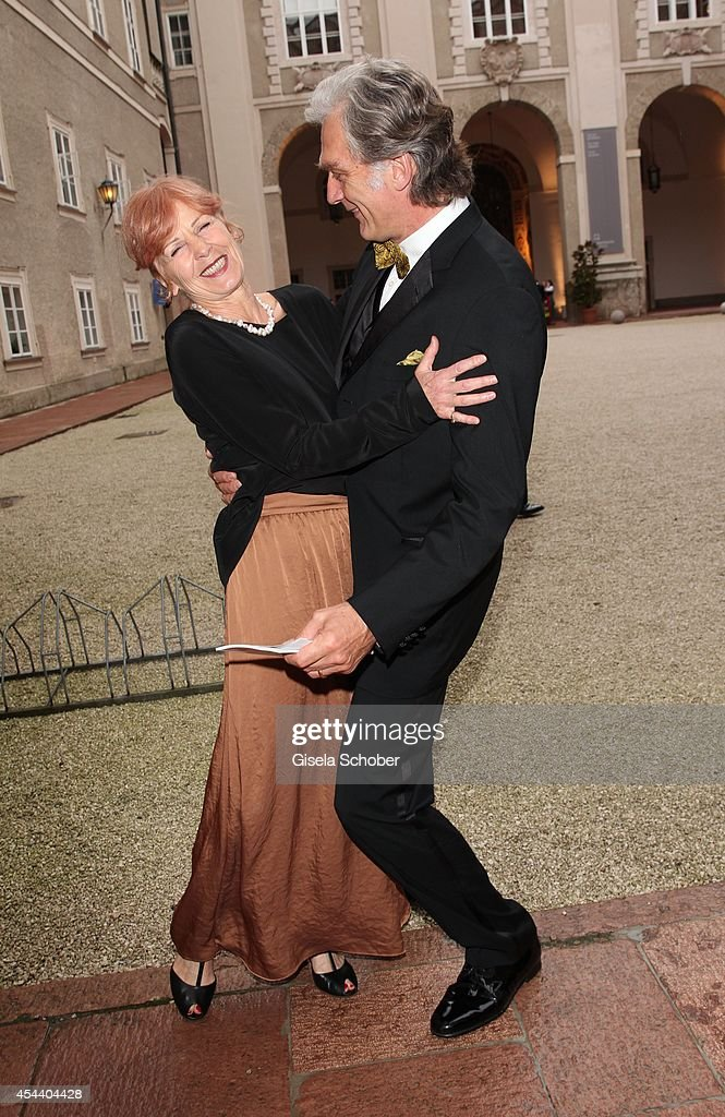Walter Sittler and his wife Sigrid attend the Salzburg Festival Ball at Felsenreitschule on August 30 2014 in Salzburg Austria