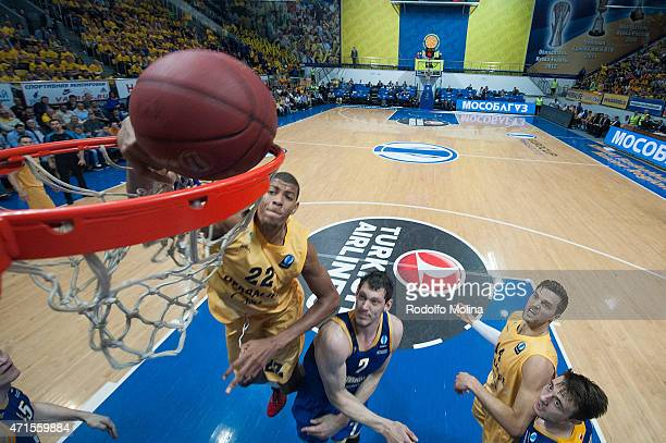 Walter Tavares #22 of Herbalife Gran Canaria Las Palmas in action during the Eurocup Basketball Final game 2 between Khimki Moscow Region v Herbalife...