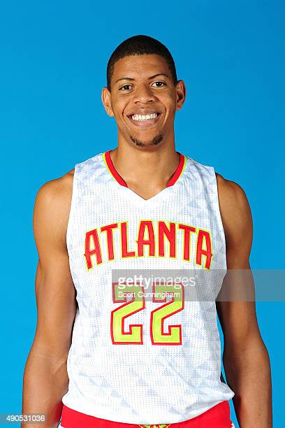 Walter Tavares of the Atlanta Hawks poses for a photo during media day on September 28 2015 at Philips Arena in Atlanta Georgia NOTE TO USER User...