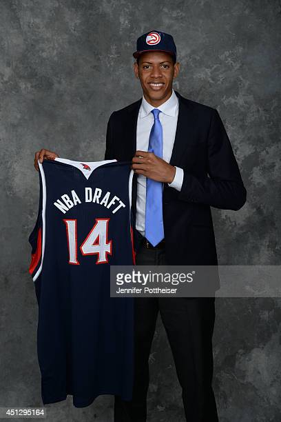 Walter Tavares the 43rd pick overall by the Atlanta Hawks poses for a portrait during the 2014 NBA Draft at the Barclays Center on June 26 2014 in...