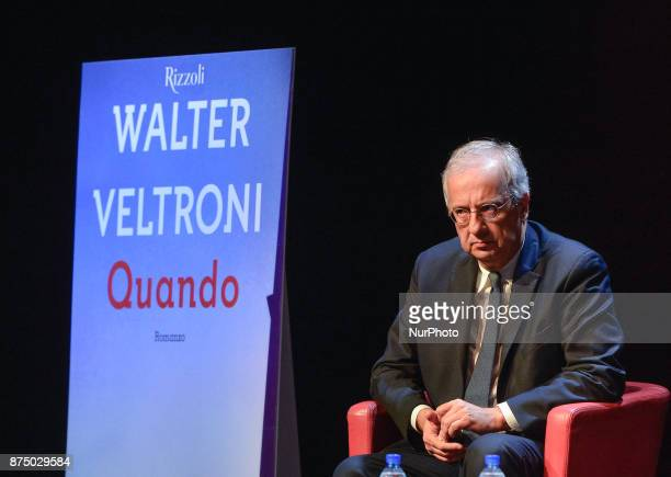 Walter Veltroni during presentation of the book 'Quando' by Walter Veltroni at Auditorium Rome on november 16 2017