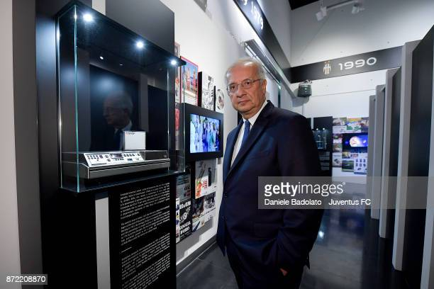 Walter Veltroni during the Juventus 120 Years Exhibition Opening at Juventus Museum on November 9 2017 in Turin Italy