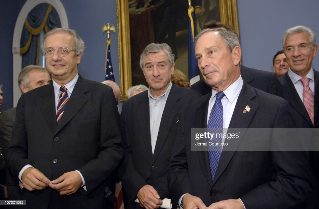 <a gi-track='captionPersonalityLinkClicked' href=/galleries/search?phrase=Walter+Veltroni&family=editorial&specificpeople=558343 ng-click='$event.stopPropagation()'>Walter Veltroni</a>, Mayor of Rome, <a gi-track='captionPersonalityLinkClicked' href=/galleries/search?phrase=Robert+De+Niro&family=editorial&specificpeople=201673 ng-click='$event.stopPropagation()'>Robert De Niro</a>, and Michael R. Bloomberg, Mayor of New York City, at a press conference announcing a collaboration between the Tribeca Film Festival and the Rome Film Festival.