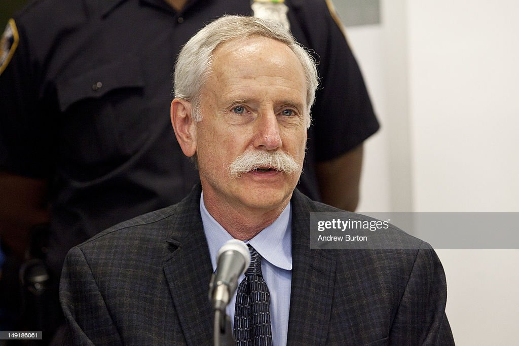 Walter Willett, MD, DrPH, MPH, chairman of the Epidemiology and Nutrition at Harvard School of Public Health, answers questions from the media prior to a public hearing regarding a proposal to ban the sale of certain larger sizes of sugary drinks at the Department of Health and Mental Hygiene July 24, 2012 in the Queens borough of New York City. Under the proposed ban, sugary drinks with no nutritional value would not be allowed to be sold in sizes over 16 ounces in certain retail outlets.