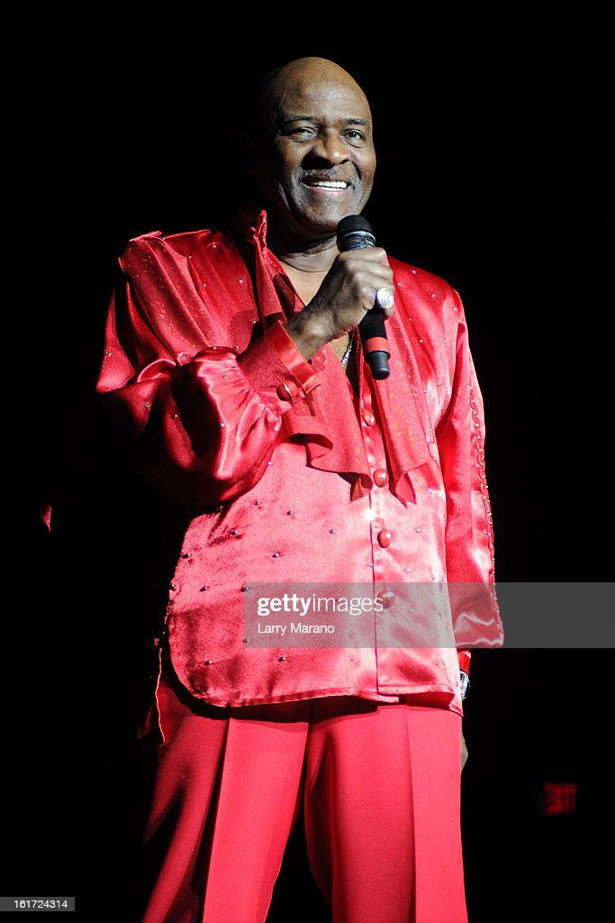 Walter Williams of The O Jays performs at Hard Rock Live! in the Seminole Hard Rock Hotel & Casino on February 14, 2013 in Hollywood, Florida.
