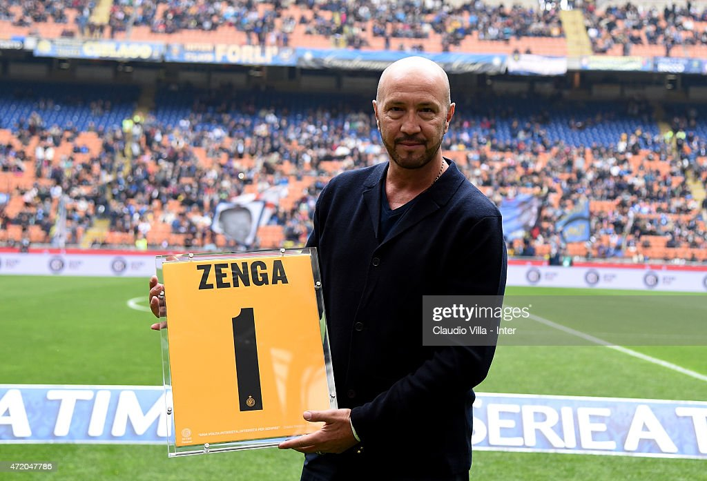Walter Zenga attends Serie A match between FC Internazionale Milano and AC Chievo Verona at Stadio Giuseppe Meazza on May 3, 2015 in Milan, Italy.