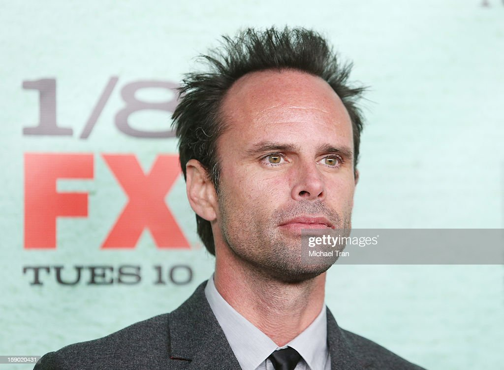 Walton Goggins arrives at season 4 premiere of FX's 'Justified' held at Paramount Theater on the Paramount Studios lot on January 5, 2013 in Hollywood, California.