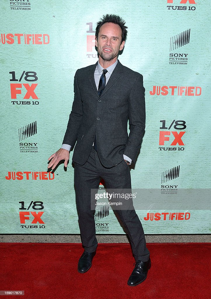 Walton Goggins attends the Premiere Of FX's 'Justified' Season 4 at Paramount Theater on the Paramount Studios lot on January 5, 2013 in Hollywood, California.