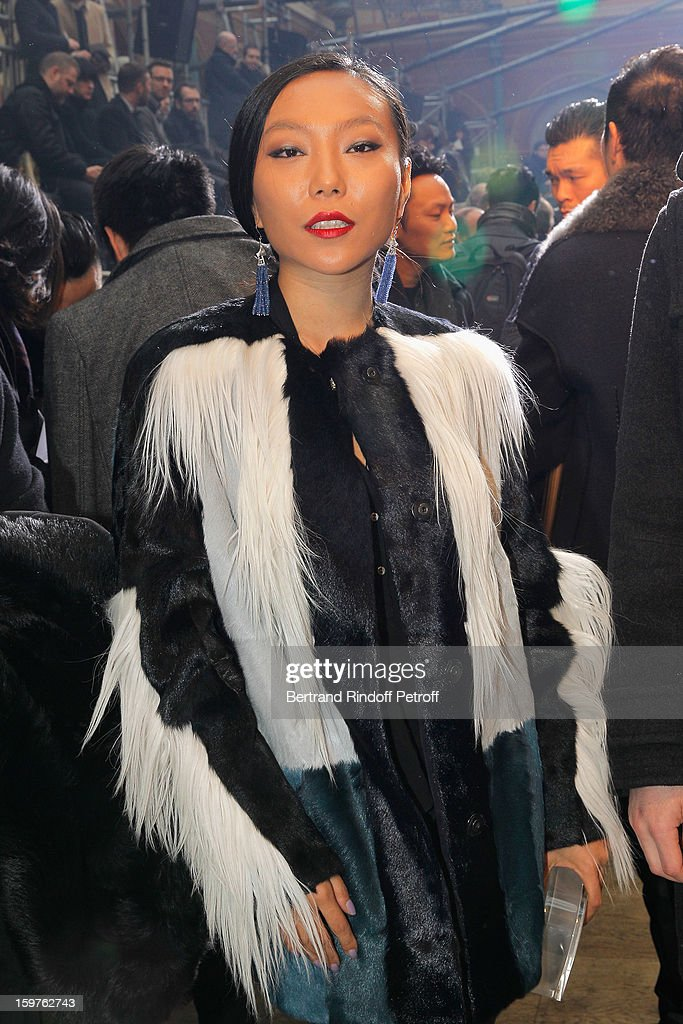 Wan Bao Bao attends the Lanvin Men Autumn / Winter 2013 show at Ecole Nationale Superieure Des Beaux-Arts as part of Paris Fashion Week on January 20, 2013 in Paris, France.