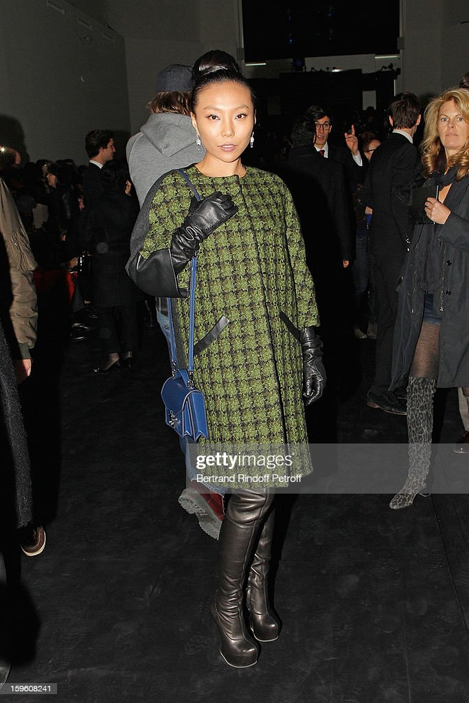 Wan Baobao attends the Louis Vuitton Men Autumn / Winter 2013 show as part of Paris Fashion Week on January 17, 2013 in Paris, France.