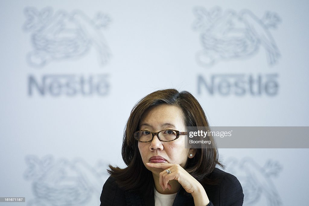 Wan Ling Martello, chief financial officer of Nestle SA, pauses during a news conference to announce the company's annual results in Vevey, Switzerland, on Thursday, Feb. 14, 2013. Nestle SA said it expects 2013 to be as challenging as last year, when sales missed analysts' estimates on a slowdown in emerging markets, a region the world's largest food company is increasingly dependent upon. Photographer: Valentin Flauraud/Bloomberg via Getty Images