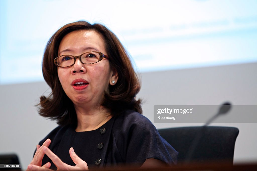 Wan Ling Martello, chief financial officer of Nestle SA, speaks during a news conference to announce the company's results in Vevey, Switzerland, on Thursday, Oct. 17, 2013. Nestle SA, the world's biggest food company, reported nine-month sales that were below its full-year target rate, highlighting the difficult environment faced by the makers of consumer products. Photographer: Gianluca Colla/Bloomberg via Getty Images