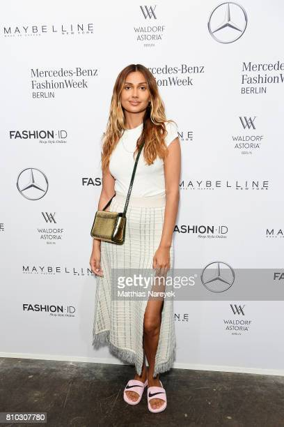 Wana Limar attends the Prabal Gulung Design show during the MercedesBenz Fashion Week Berlin Spring/Summer 2018 at Kaufhaus Jandorf on July 7 2017 in...