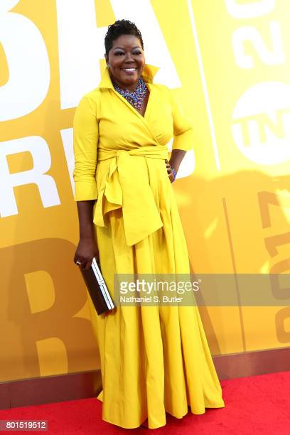 Wanda Durant arrives at the red carpet at the NBA Awards Show on June 26 2017 at Basketball City at Pier 36 in New York City New York NOTE TO USER...