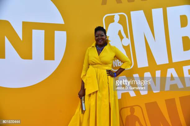 Wanda Durant mother of Kevin Durant arrives on the red carpet during the 2017 NBA Awards Show on June 26 2017 at Basketball City in New York City...