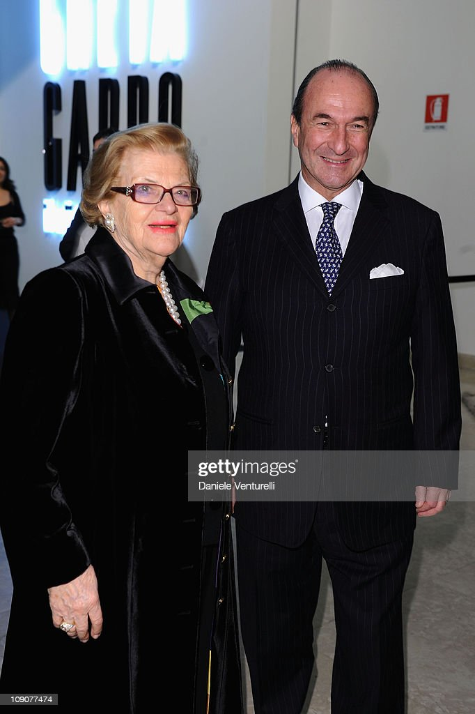 Wanda Ferragamo and Michele Norsa attend the Salvatore Ferragamo 'Greta Garbo' exhibition at the Triennale Museum during Milan Fashion Week Womenswear A/W 2010 on February 27, 2010 in Milan, Italy.