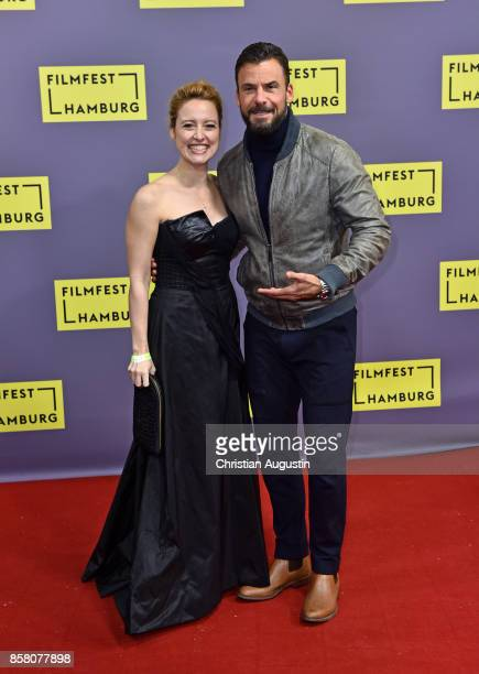 Wanda Perdelwitz and Stephan Luca attend the premiere of 'Lucky' during the opening night of Hamburg Film Festival 2017 at Cinemaxx Dammtor on...