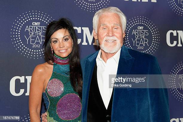 Wanda Rogers and Kenny Rogers attend the 2012 CMT 'Artists Of The Year' Awards at The Factory At Franklin on December 3 2012 in Franklin Tennessee