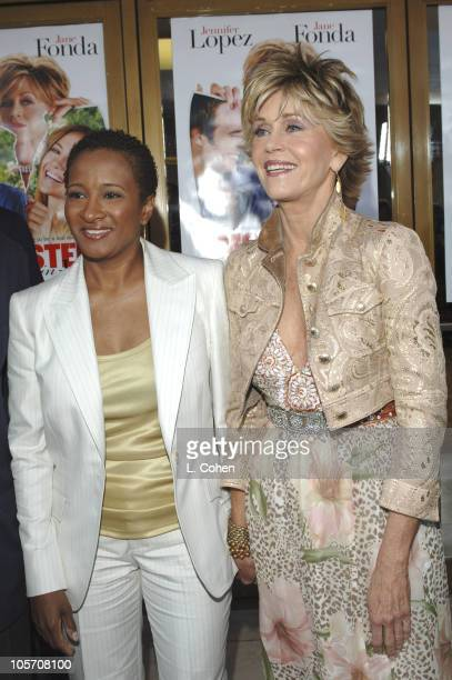 Wanda Sykes and Jane Fonda during 'MonsterInLaw' Los Angeles Premiere Red Carpet at Mann National Theatre in Los Angeles California United States