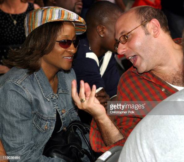 Wanda Sykes and Jeffrey Katzenberg during Fernando Vargas vs Fitz Vanderpool Ringside at The Grand Olympic Auditorium in Los Angeles California...