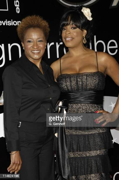 Wanda Sykes and Niecy Nash during 32nd Annual American Women in Radio Television Gracie Allen Awards Arrivals at Marriott Marquis in New York City...
