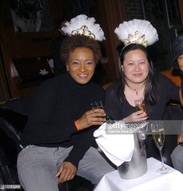 Wanda Sykes and Sandra Chany during New Year's 2006 in New York City Carson Daly's New Year's Eve Party at Hudson Bar in New York City New York...