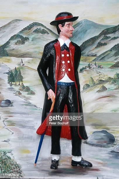 wandbemalung mann in schwarzwlder tracht schonach schwarzwa - Wandbemalung Modern