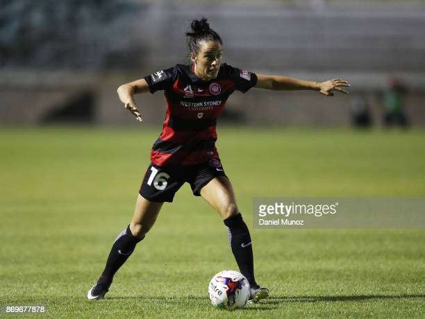 Wanderers Alix Roberts controls the ball during the round two WLeague match between the Western Wanderers and Adelaide United at Marconi Stadium on...
