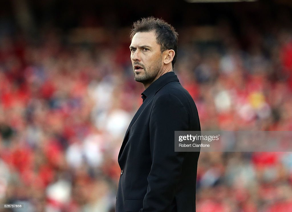 Wanderers coach Tony Popovic looks on during the 2015/16 A-League Grand Final match between Adelaide United and the Western Sydney Wanderers at Adelaide Oval on May 1, 2016 in Adelaide, Australia.