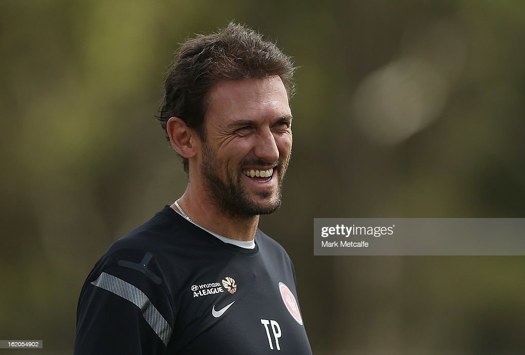 Wanderers coach Tony Popovic smiles during a Western Sydney Wanderers A-League training session at Blacktown International Sportspark on February 19, 2013 in Sydney, Australia.