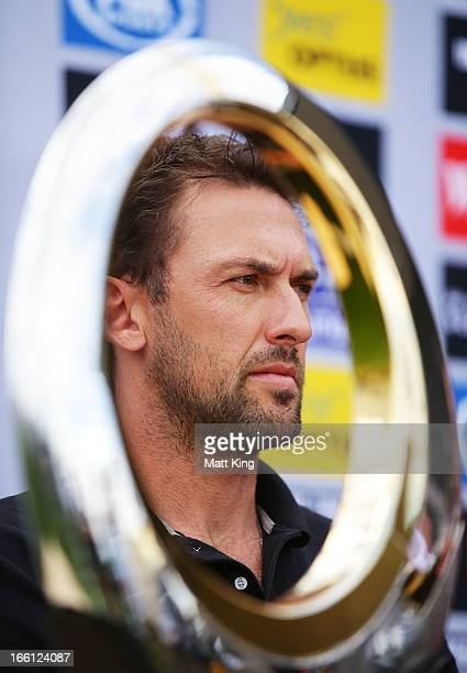 Wanderers coach Tony Popovic speaks to the media during a Western Sydney Wanderers ALeague training session at Blacktown International Sportspark on...