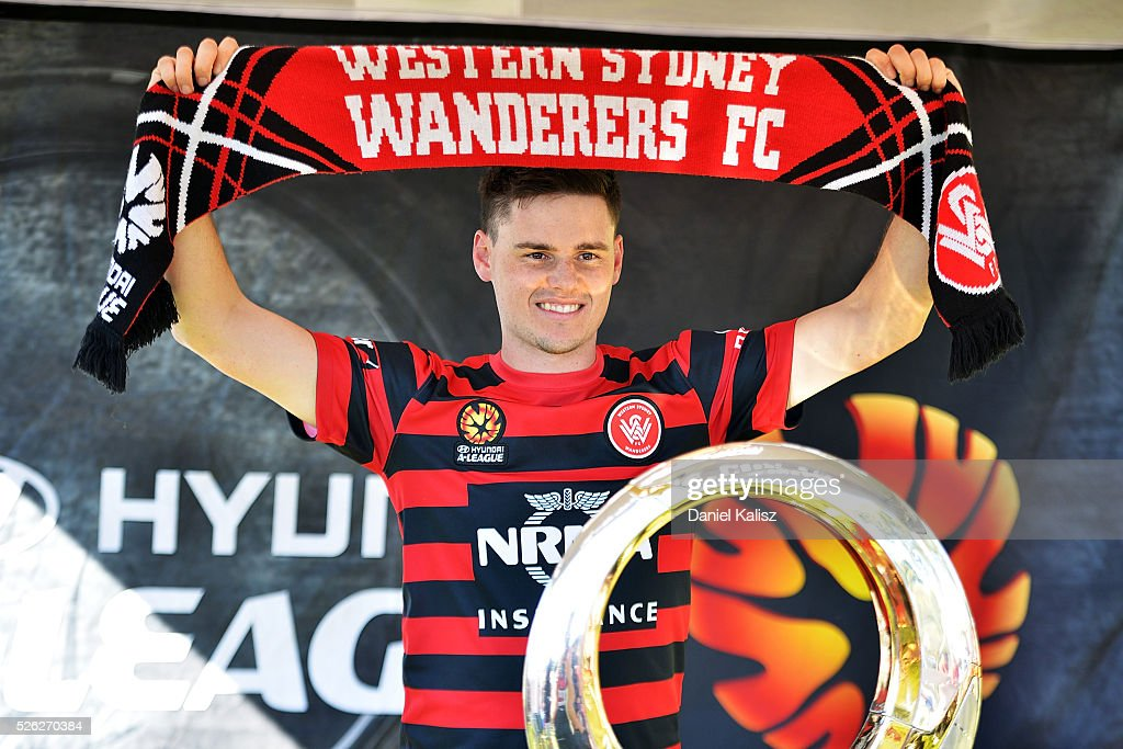 A Wanderers fan shows his support during the A-League Grand Final Fan Day at Bonython Park on April 30, 2016 in Adelaide, Australia.