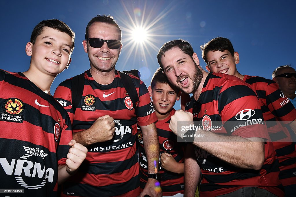 Wanderers fans show their support during the A-League Grand Final Fan Day at Bonython Park on April 30, 2016 in Adelaide, Australia.