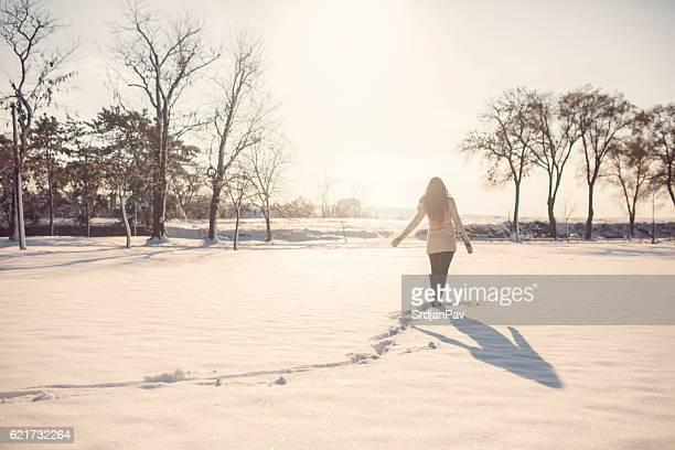 Wandering through the snow