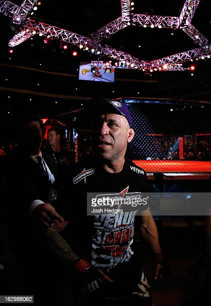 Wanderlei Silva exits the arena after knocking out Brian Stann in their light heavyweight fight during the UFC on FUEL TV event at Saitama Super...