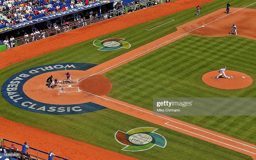 <a gi-track='captionPersonalityLinkClicked' href=/galleries/search?phrase=Wandy+Rodriguez&family=editorial&specificpeople=247781 ng-click='$event.stopPropagation()'>Wandy Rodriguez</a> #51 of the Dominican Republic pitches during a World Baseball Classic second round game against Puerto Rico at Marlins Park on March 16, 2013 in Miami, Florida.