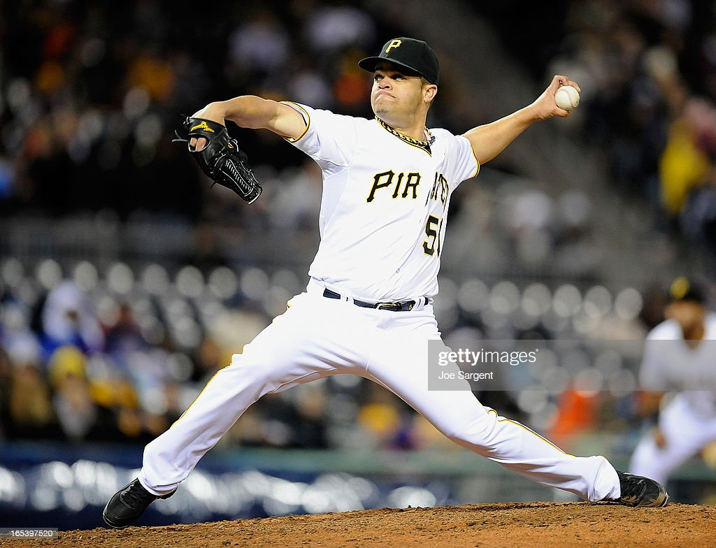 <a gi-track='captionPersonalityLinkClicked' href=/galleries/search?phrase=Wandy+Rodriguez&family=editorial&specificpeople=247781 ng-click='$event.stopPropagation()'>Wandy Rodriguez</a> #51 of the Pittsburgh Pirates delivers a pitch during the sixth inning against the Chicago Cubs on April 3, 2013 at PNC Park in Pittsburgh, Pennsylvania.