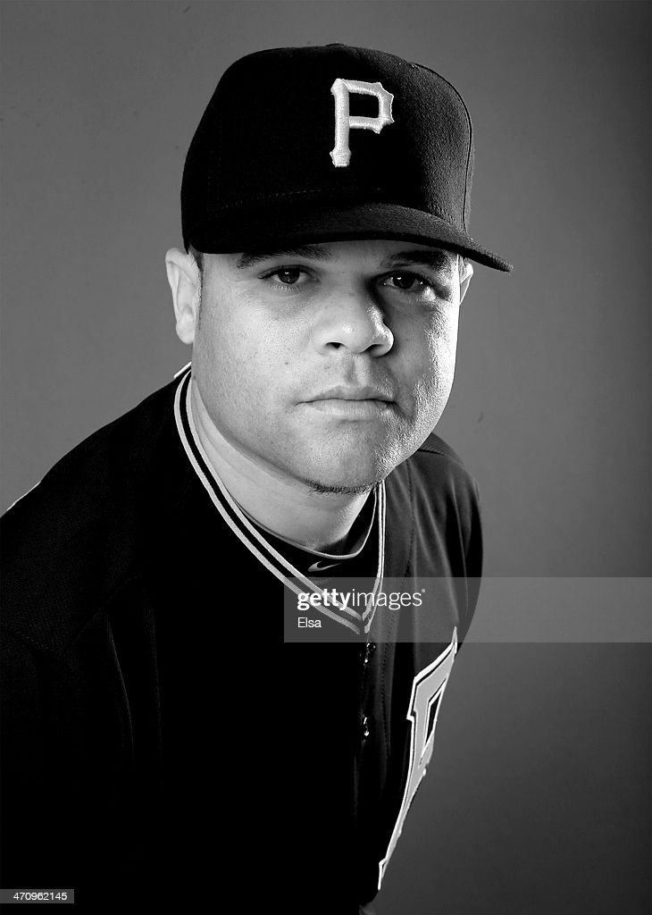 Wandy Rodriguez #51 of the Pittsburgh Pirates poses for a portrait during the Pittsburgh Pirates Photo day on February 21, 2014 at Pirate City in Bradenton, Florida.
