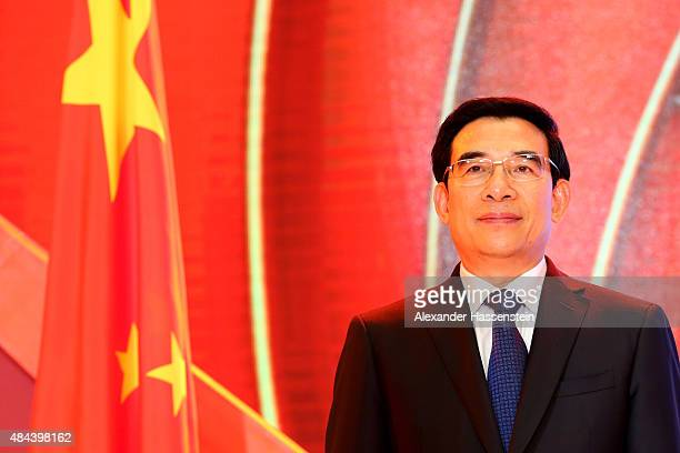 Wang Anshun Lord Mayor of Beijing and President of the World Championships Beijing 2015 Local Organising Committee attends the IAAF Congress Opening...