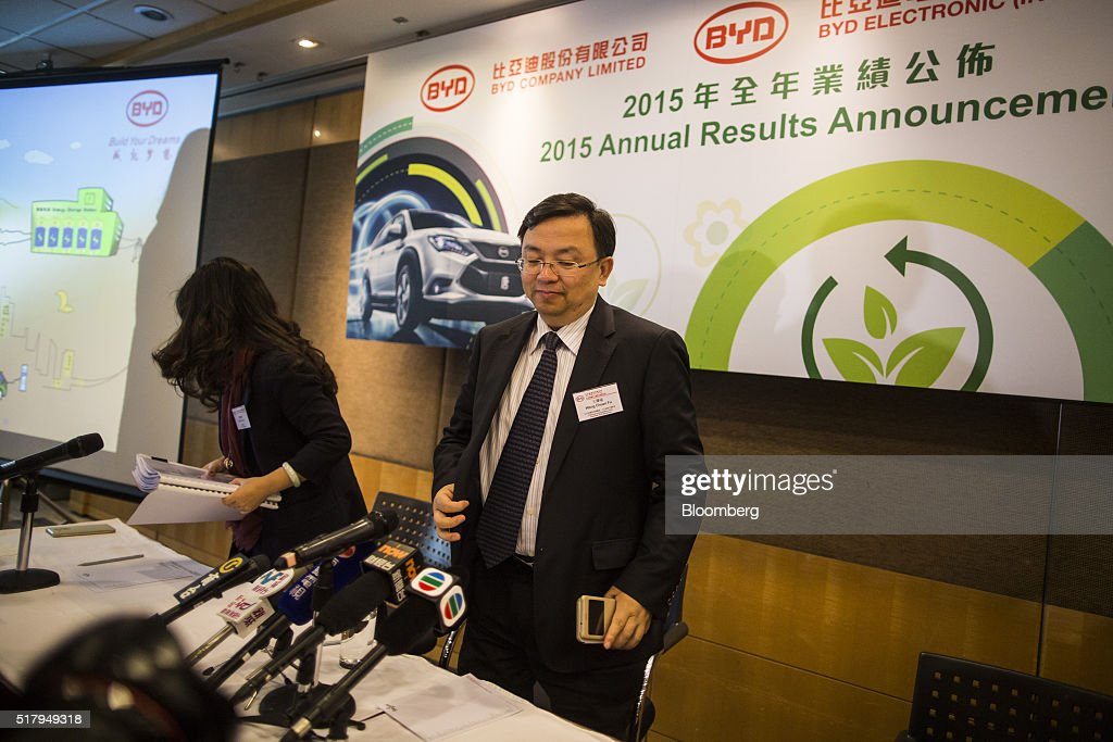 BYD Co. Chairman Wang Chuanfu Presents Annual Earnings Results