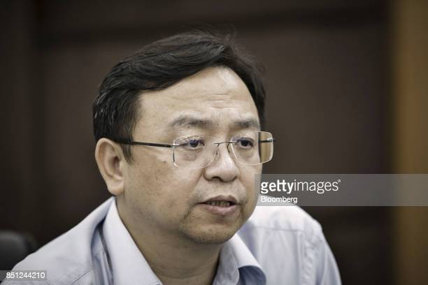 Wang Chuanfu chairman of BYD Co speaks during a news conference at the company's headquarters in Shenzhen China on Thursday Sept 21 2017 China will...
