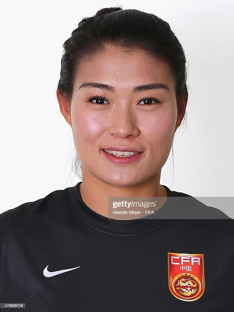 Wang Fei of China during the FIFA Women's World Cup 2015 portrait session at the Delta Edmonton South on June 3 2015 in Edmonton Canada