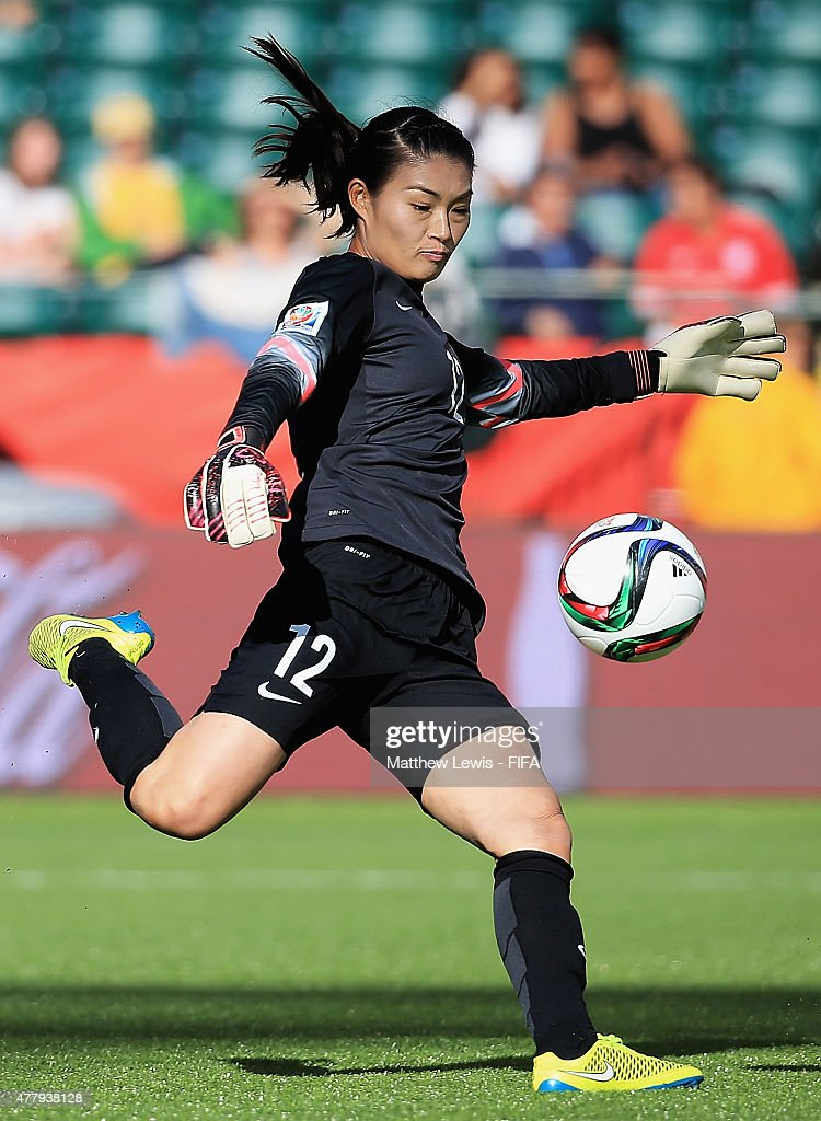 Wang Fei of China PR in action during the FIFA Women's World Cup 2015 Round of 16 match between China and Cameroon at Commonwealth Stadium on June 20...