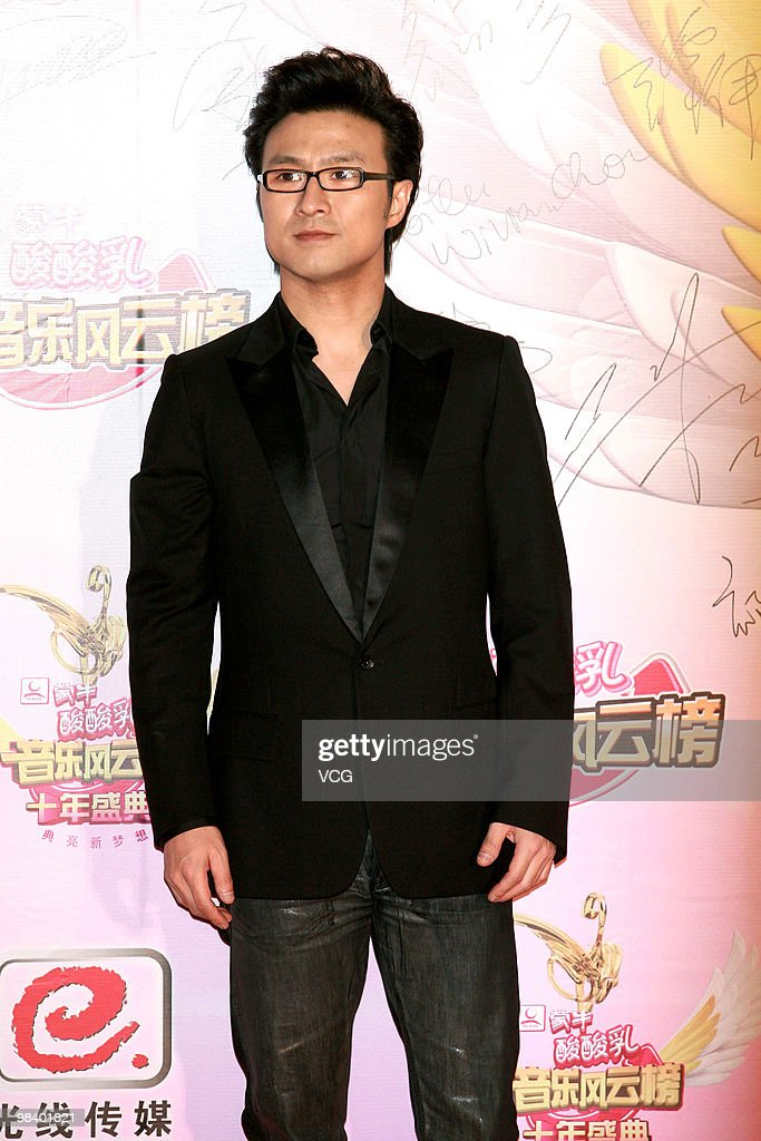 Wang Feng arrives at the red carpet of the 10th Meng Niu Yogurt Music Chart Awards Ceremony On April 11 2010 in Shenzhen Guangdong Province of China