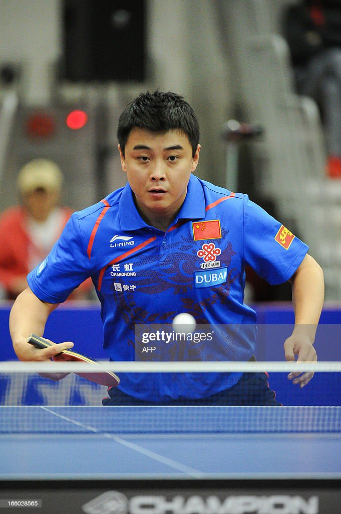 Wang Hao of China competes during the men's singles semi-final table tennis match of the ITTF Korea Open in Incheon on April 7, 2013. AFP PHOTO/KIM DOO-HO