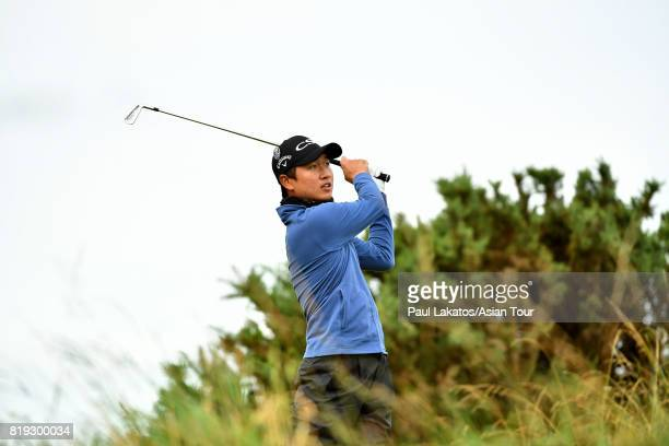 Wang Jeunghun of Korea pictured on hole 3 during the first round of the 146th Open Championship at Royal Birkdale on July 20 2017 in Southport England